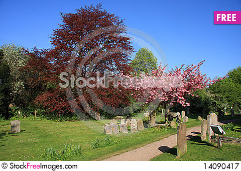 Free Springtime In The Churchyard Royalty Free Stock Photography - 14090417