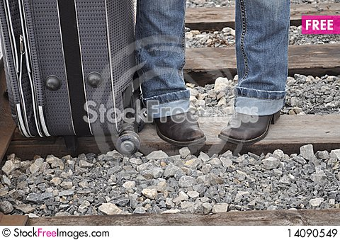 Free Passengers With Luggage Royalty Free Stock Images - 14090549