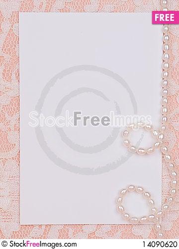 Free White Card For Congratulation Stock Photo - 14090620