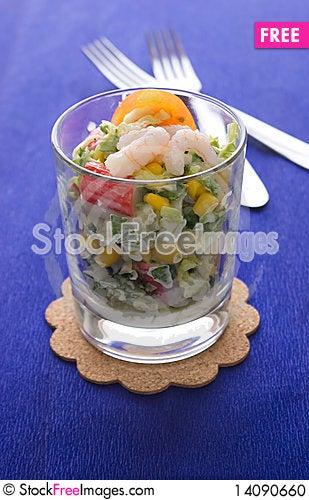 Free Fresh Salad With Crabsticks Stock Photo - 14090660