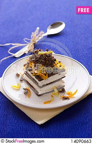 Free Chocolate Cake With Orange And Bizet Stock Photos - 14090663