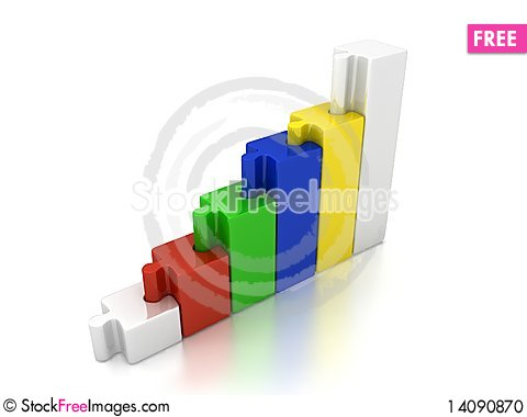 Free 3d Abstract Chart Stock Photo - 14090870
