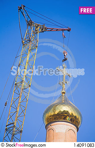 Free Building Russian Christian Orthodox Church. Stock Photos - 14091083