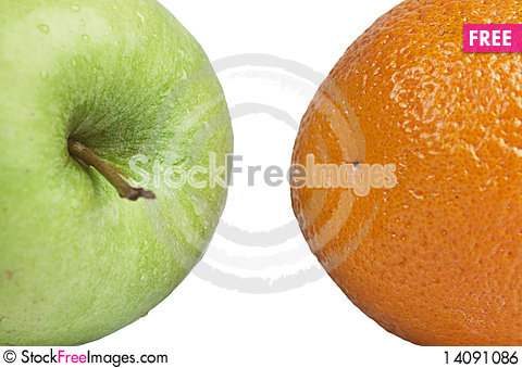 Free Orange And Apple Royalty Free Stock Image - 14091086