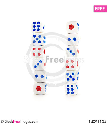 Free Set Of White Dices Stock Images - 14091104