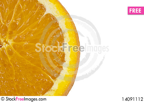 Free Part Of Sliced Orange Stock Photography - 14091112