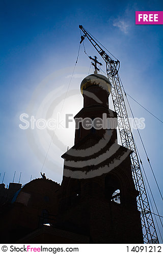 Free Building Russian Christian Orthodox Church. Stock Photography - 14091212