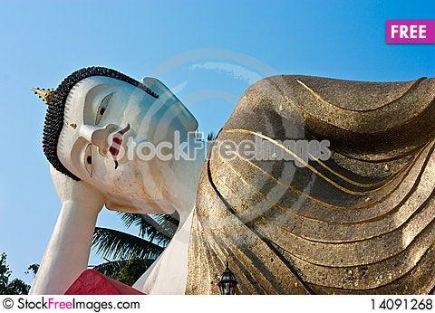 Free White Budda Royalty Free Stock Photos - 14091268