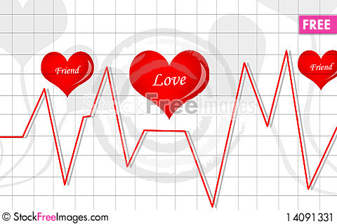 Free Pulls Graph And Love Symbol Stock Image - 14091331
