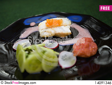 Free Fish Plate Royalty Free Stock Image - 14091346