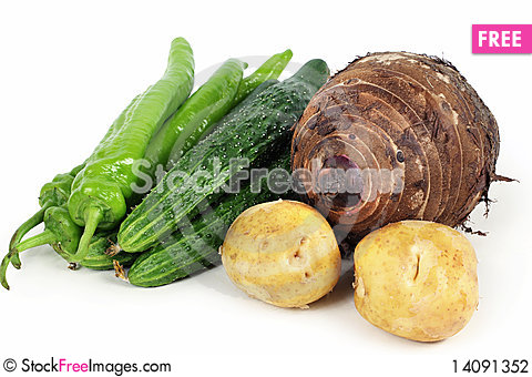 Free Set Of Different Vegetables Stock Photography - 14091352