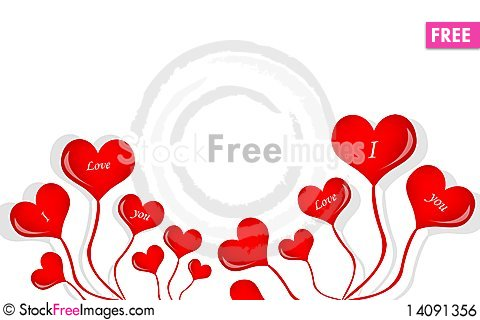 Free Love Balloon Royalty Free Stock Image - 14091356