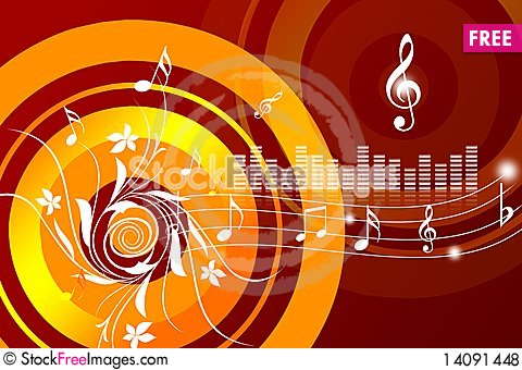 Free Musical Background Royalty Free Stock Photos - 14091448