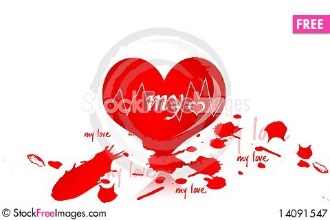 Free Love And Blood Drop Royalty Free Stock Photography - 14091547