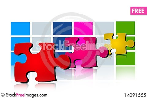 Free Puzzle Sign Royalty Free Stock Photo - 14091555