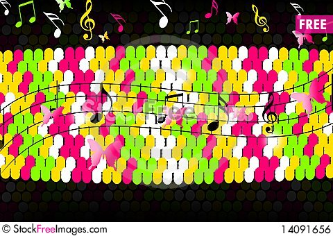 Free Musical Background Royalty Free Stock Image - 14091656