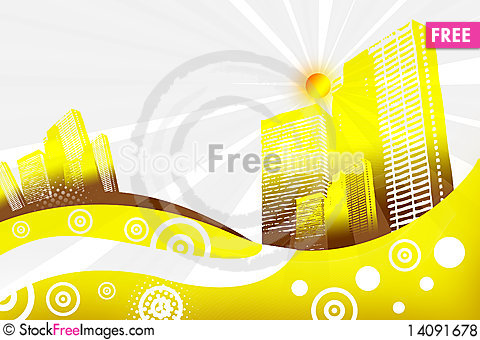 Free City In Abstract Background Royalty Free Stock Photos - 14091678