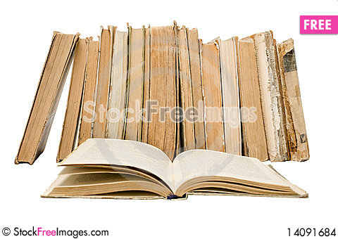 Free Old Vintage Open Books Stock Images - 14091684