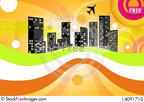 Free City In Abstract Background Stock Photo - 14091710