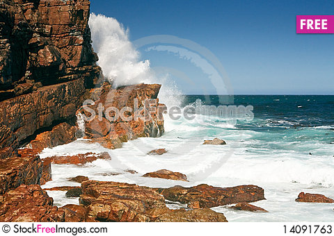 Free Rough Coast Of The Cape Of Good Hope, South Africa Stock Photos - 14091763