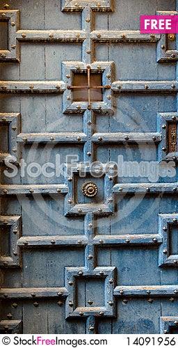 Free Old Wood Door Royalty Free Stock Image - 14091956