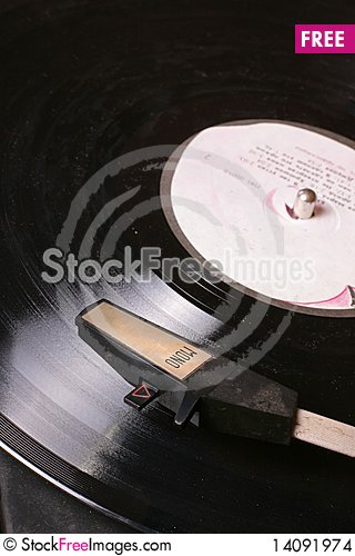 Free Old Wintage Gramophone Disk Player On Vinyl Disk. Stock Images - 14091974