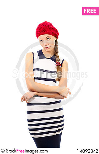 Free Girl In Red Hat Stock Photography - 14092342