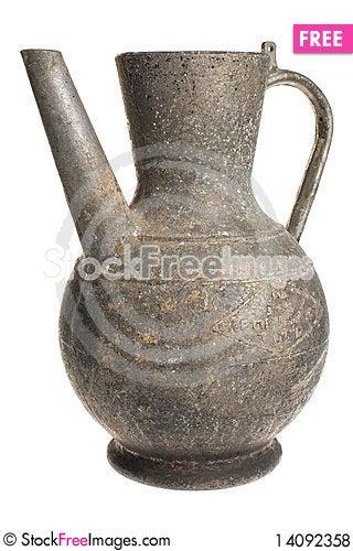 Free Old Antique Vintage Metal Brass, Jar. Royalty Free Stock Photos - 14092358
