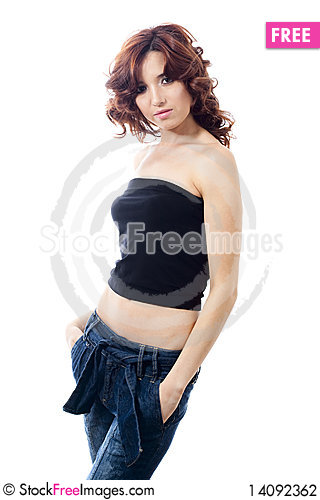 Free Girl In Jeans Stock Photography - 14092362