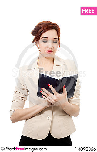 Free Girl With Diary Royalty Free Stock Image - 14092366