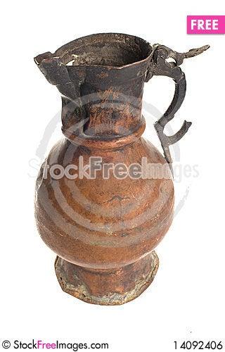 Free Old Antique Vintage Metal Brass, Jar. Royalty Free Stock Image - 14092406