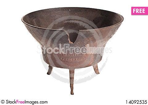 Free Old Antique Vintage Metal Brass, Jar. Royalty Free Stock Photo - 14092535
