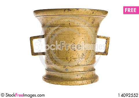 Free Old Antique Vintage Metal Brass, Jar. Stock Photography - 14092552