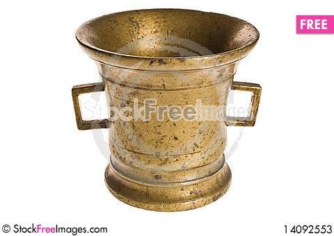 Free Old Antique Vintage Metal Brass, Jar. Stock Photos - 14092553