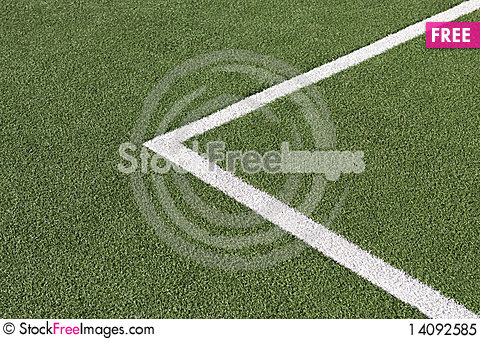 Free Soccer Field Corner Line Royalty Free Stock Photo - 14092585