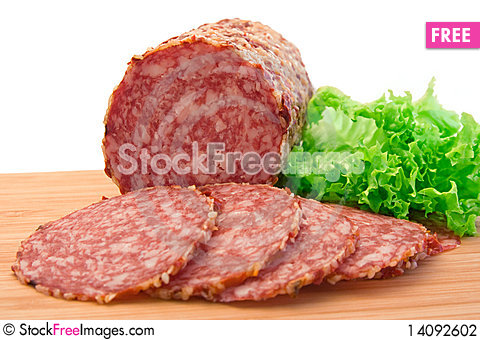 Free Slices Of Salami Stock Photography - 14092602