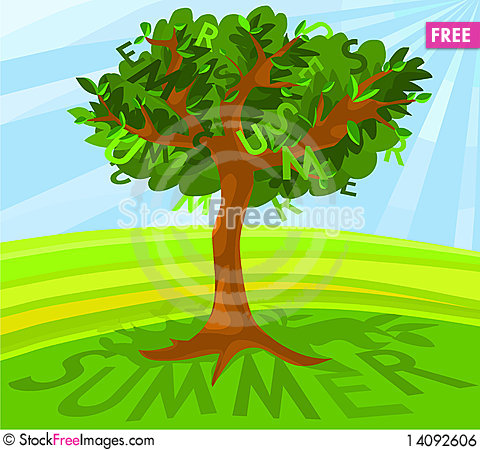 Free Summer Tree Royalty Free Stock Image - 14092606