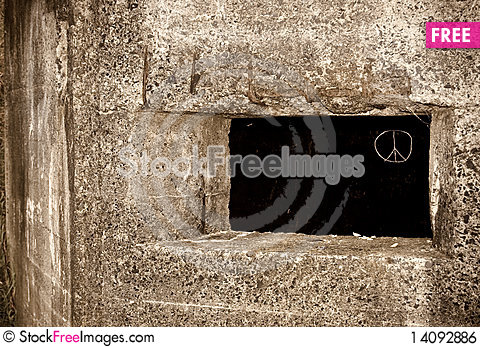 Free Old Pillbox Peace Royalty Free Stock Image - 14092886