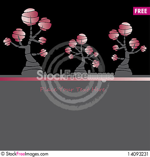 Free Card Design With Stylized Trees And Text Stock Image - 14093231
