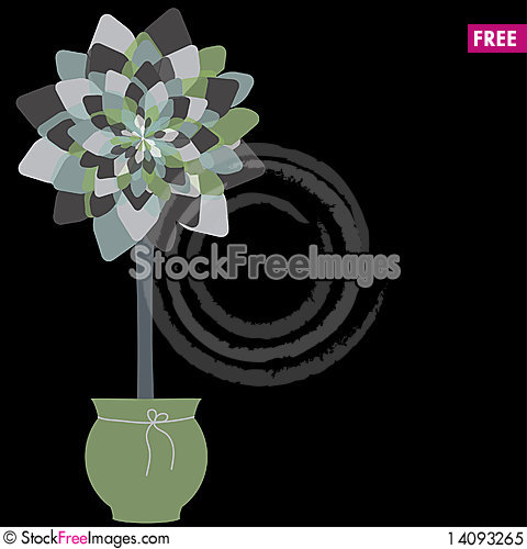 Free Card Design With Stylized Trees And Text Royalty Free Stock Photo - 14093265