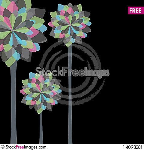 Free Card Design With Stylized Trees And Text Stock Image - 14093281