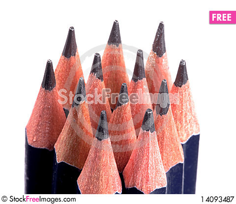 Free Blue Pencils Royalty Free Stock Photography - 14093487