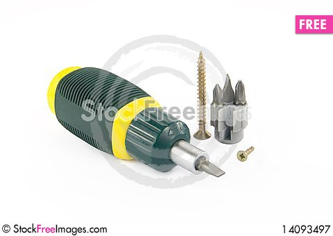 Free Screwdriver Royalty Free Stock Photography - 14093497