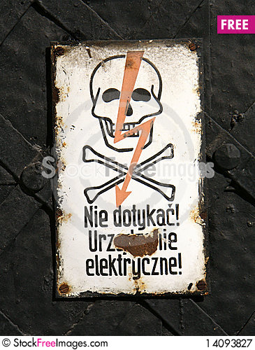 Free Danger Sign Royalty Free Stock Photography - 14093827