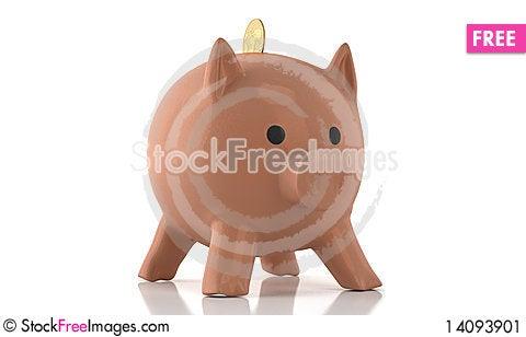 Free Porcelain Piggy Stock Image - 14093901