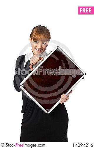 Free Happy Girl In Black Royalty Free Stock Image - 14094216