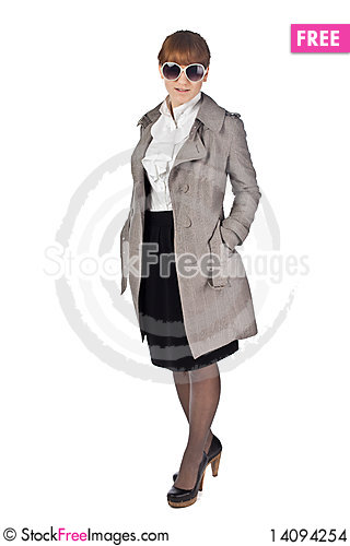 Free Young Elegance Woman With Glasses Stock Images - 14094254