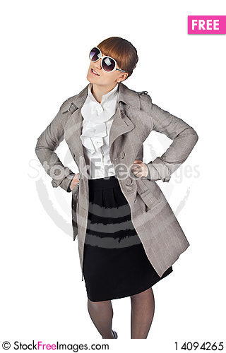Free Young Elegance Woman With Glasses Royalty Free Stock Photo - 14094265