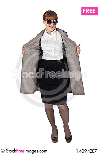 Free Young Elegance Woman With Glasses Royalty Free Stock Photography - 14094287
