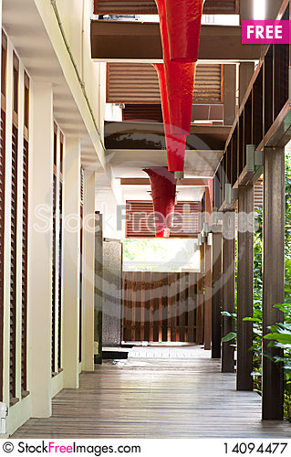 Free Alley With Air Circulation Royalty Free Stock Photography - 14094477